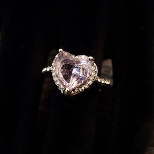 Pink Heart Shaped Diamond Fashion Ring